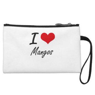 I Love Mangos Wristlet Clutches
