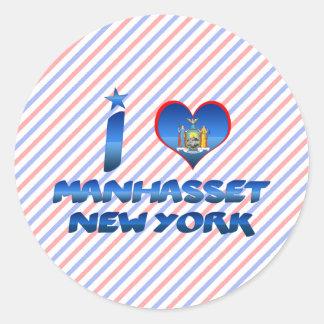 I love Manhasset, New York Classic Round Sticker