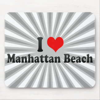 I Love Manhattan Beach, United States Mouse Pads