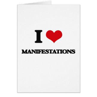 I Love Manifestations Greeting Card