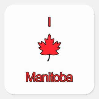 I Love Manitoba Square Sticker
