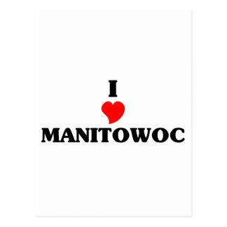 I love Manitowoc Postcard