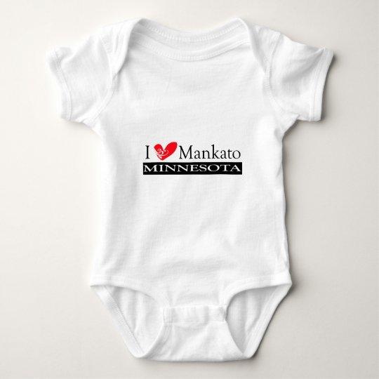 I Love Mankato Minnesota Baby Bodysuit
