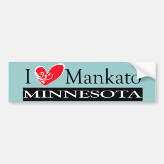 I Love Mankato Minnesota Bumper Stickers