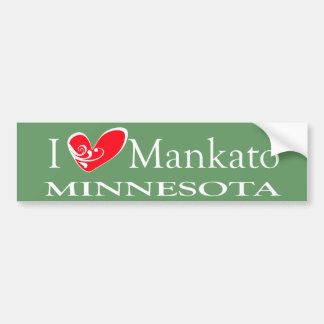 I Love Mankato Minnesota Car Bumper Sticker