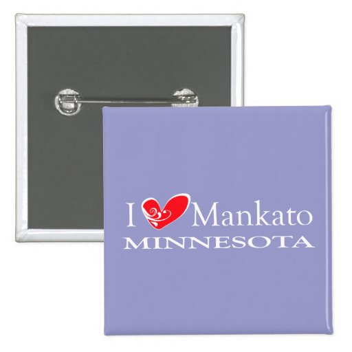 I Love Mankato Minnesota Pin