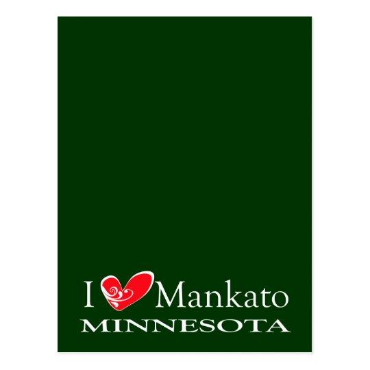 I Love Mankato Minnesota Postcard