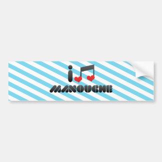 I Love Manouche Car Bumper Sticker