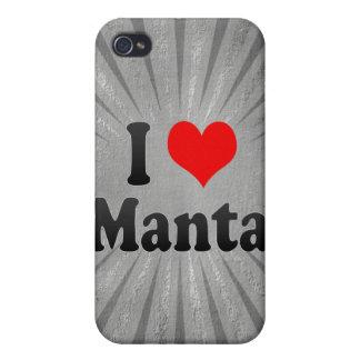 I Love Manta, Ecuador iPhone 4/4S Cases