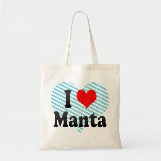 I Love Manta, Ecuador Tote Bag
