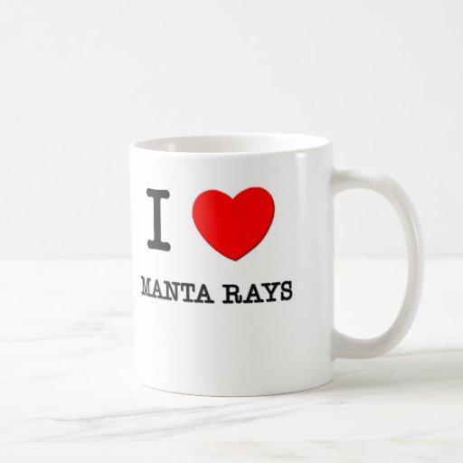 I Love Manta Rays Mug