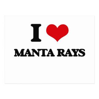 I love Manta Rays Post Card