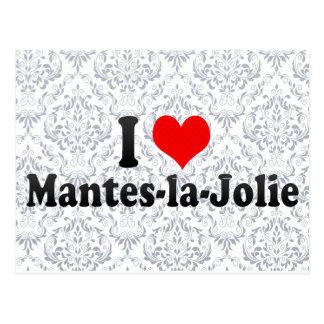 I Love Mantes-la-Jolie, France Postcard