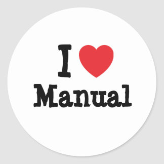 I love Manual heart custom personalized Round Sticker