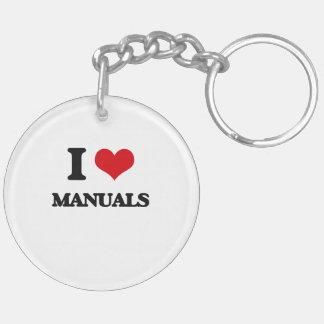 I Love Manuals Double-Sided Round Acrylic Keychain