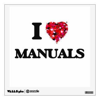 I Love Manuals Wall Sticker