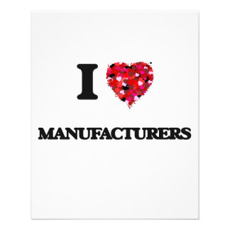 "I Love Manufacturers 4.5"" X 5.6"" Flyer"
