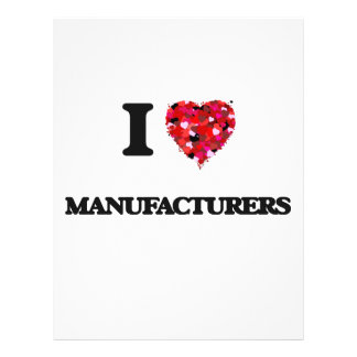 "I Love Manufacturers 8.5"" X 11"" Flyer"