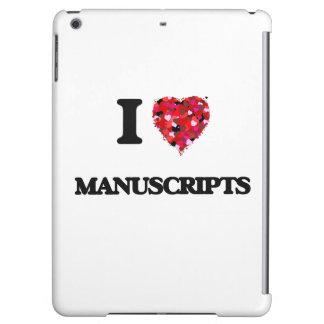 I Love Manuscripts iPad Air Cover