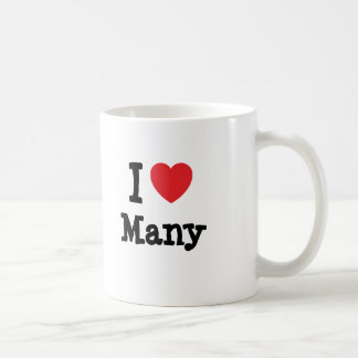 I love Many heart T-Shirt Classic White Coffee Mug