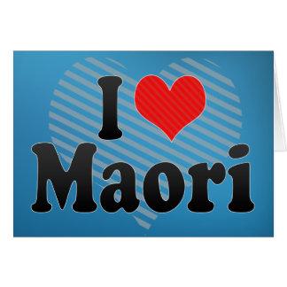 I Love Maori Card