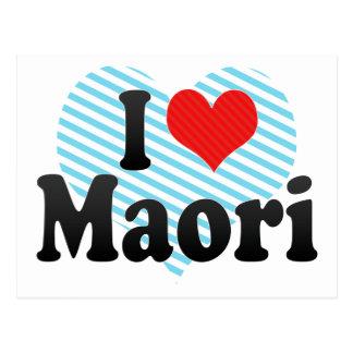 I Love Maori Postcard