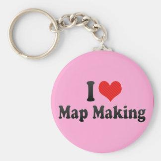 I Love Map Making Key Chain