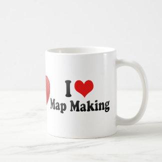 I Love Map Making Coffee Mug
