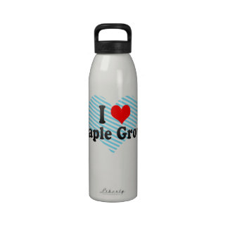 I Love Maple Grove, United States Reusable Water Bottle