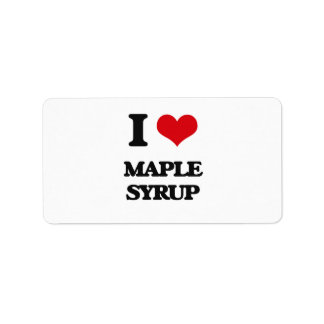 I Love Maple Syrup Address Label