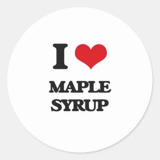 I Love Maple Syrup Sticker