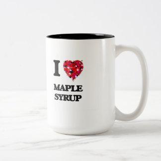 I Love Maple Syrup Two-Tone Coffee Mug
