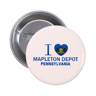 I Love Mapleton Depot, PA Pins