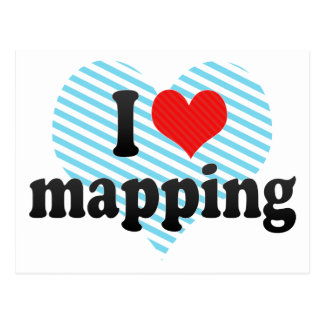 I Love mapping Postcard