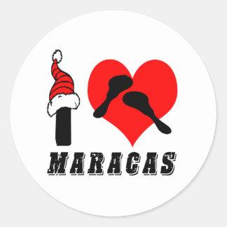 I Love Maracas Design Stickers