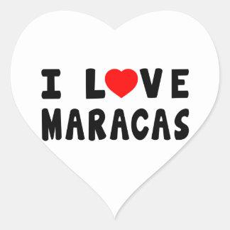 I Love Maracas Stickers