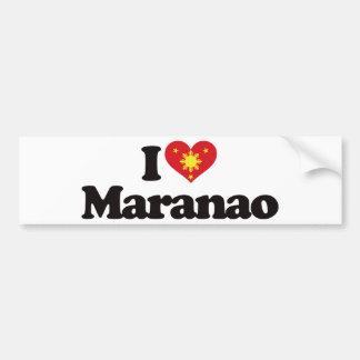 I Love Maranao Bumper Sticker
