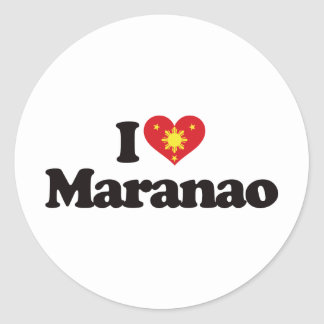 I Love Maranao Classic Round Sticker