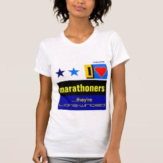 """I Love Marathoners"" T Shirt"