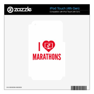 I Love Marathons Decals For iPod Touch 4G