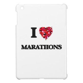 I Love Marathons iPad Mini Cases