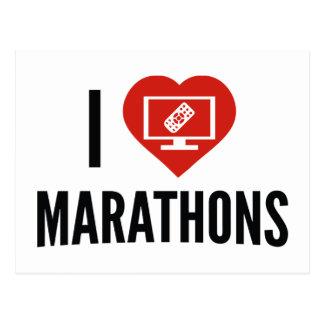 I Love Marathons Postcard
