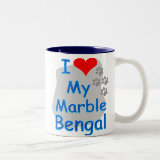 I love Marble Bengal mug