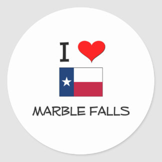 I Love Marble Falls Texas Classic Round Sticker