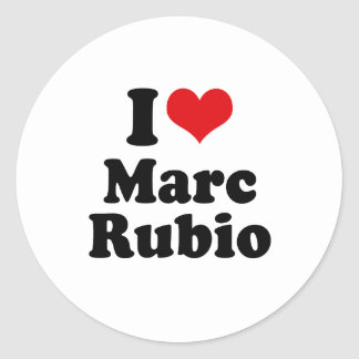 I LOVE MARC RUBIO CLASSIC ROUND STICKER