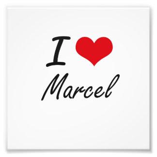 I Love Marcel Photo Print