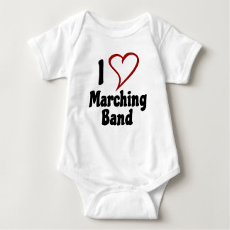 I Love Marching Band Baby Bodysuit