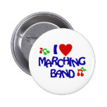 I Love Marching Band Buttons