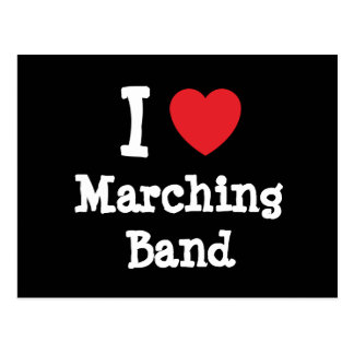 I love Marching Band heart custom personalized Postcard