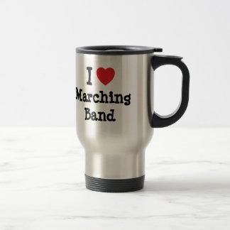 I love Marching Band heart custom personalized Travel Mug